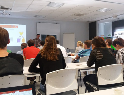 18 Austrian students visited our facilities and got acquainted with Funguschain project objectives.